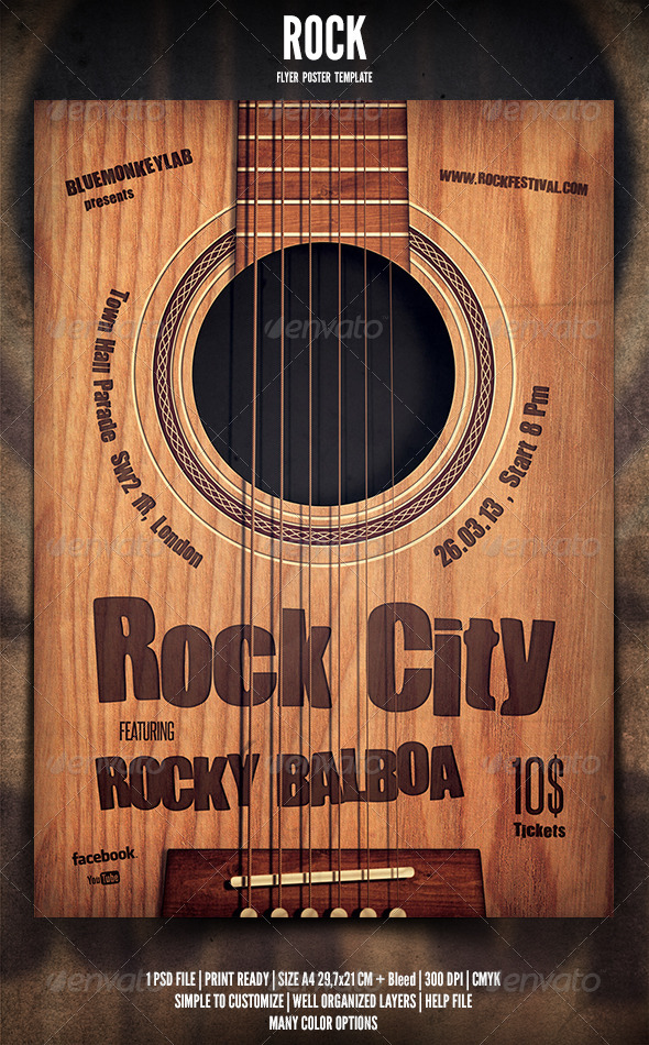 GraphicRiver Rock Flyer Poster 4 4064956