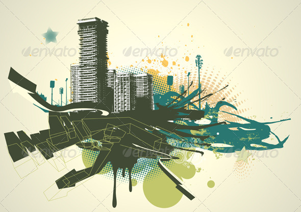 GraphicRiver Urban Grunge Background 4064957