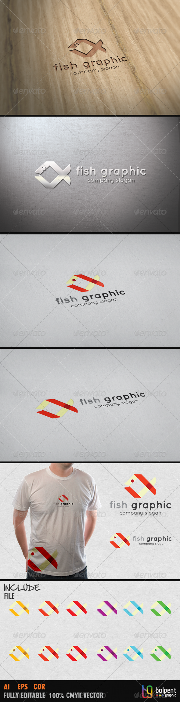 GraphicRiver Fish Graphic Logo Template 4065099