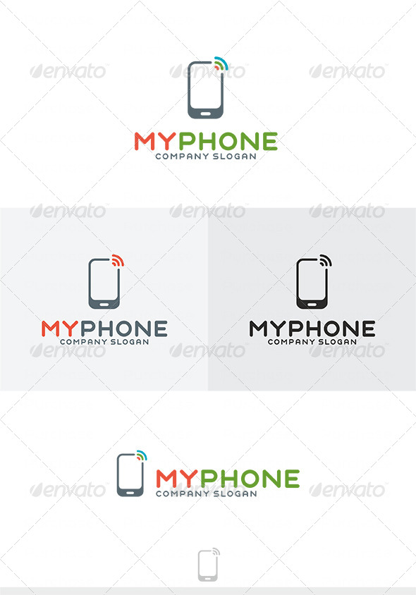 My Phone Logo - Vector Abstract