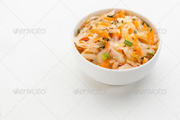 sauerkraut salad - Stock Photo - Images