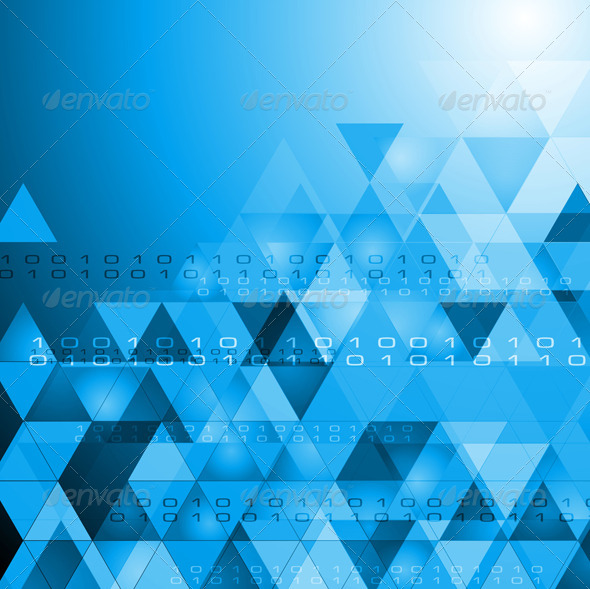 GraphicRiver Vector Hi-Tech Bright Background 4065343