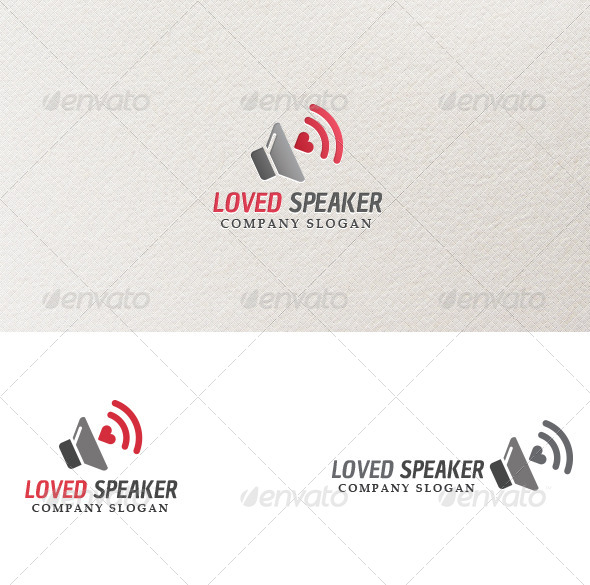 GraphicRiver Loved Speaker Logo Template 3965337