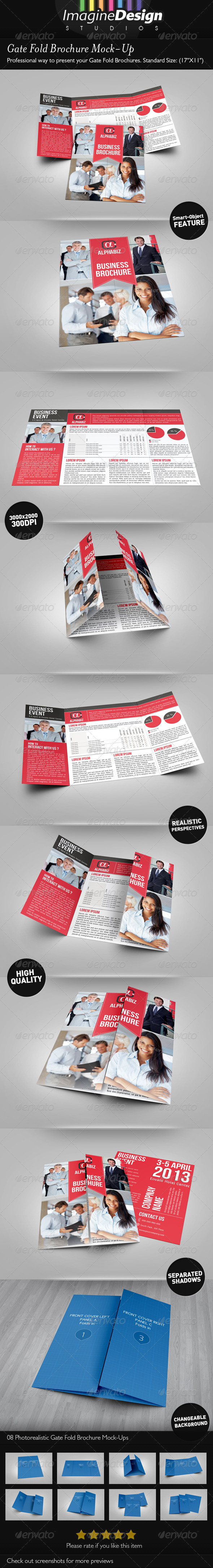 Gate Fold Brochure Mock-Up - Brochures Print