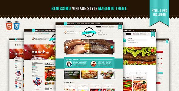 Benissimo Vintage Style Magento Theme