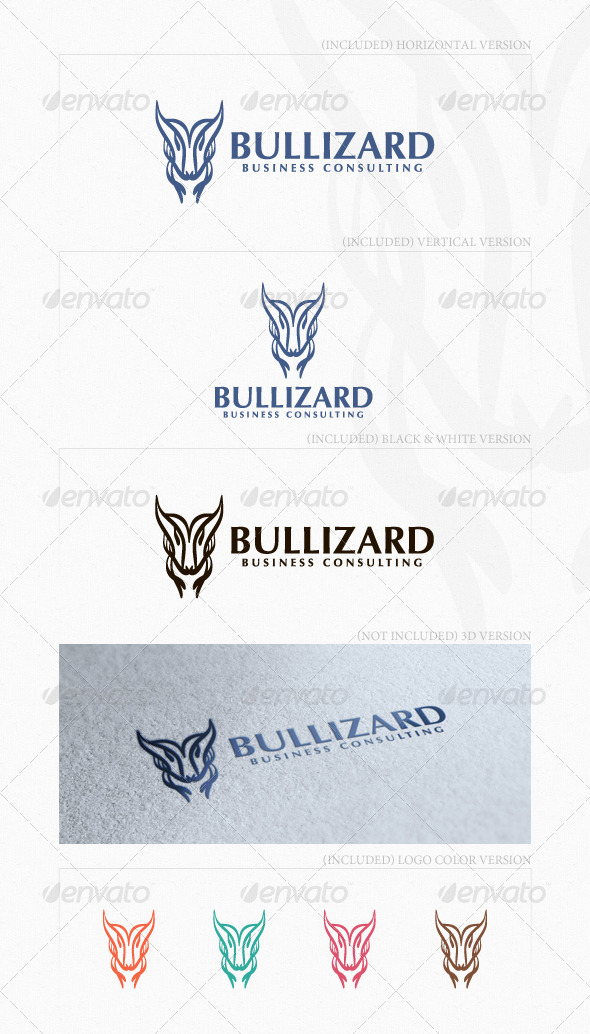 Bullizard Logo - Animals Logo Templates