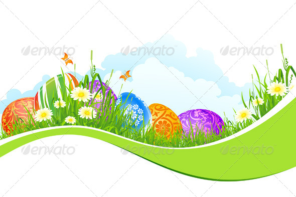 GraphicRiver Beautiful Easter Holiday Background 4065992