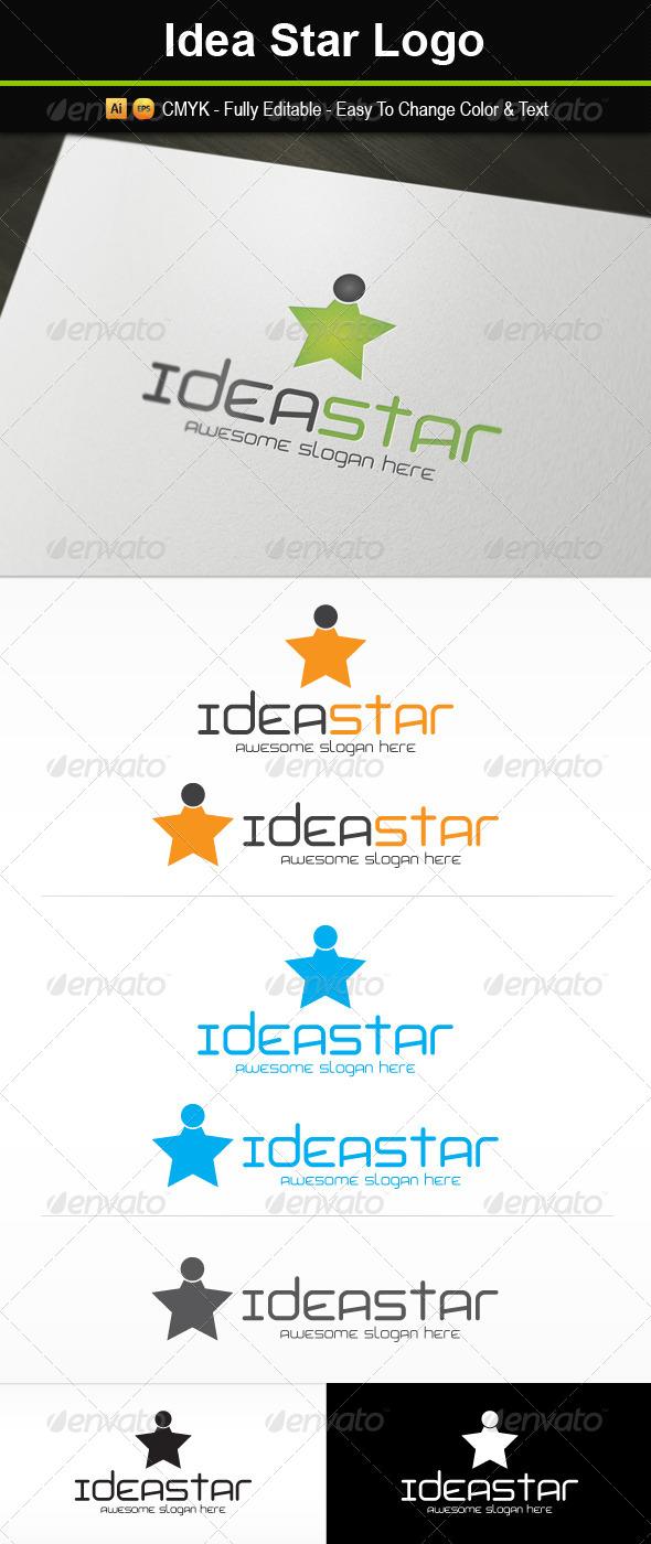 Idea Star Logo - Symbols Logo Templates