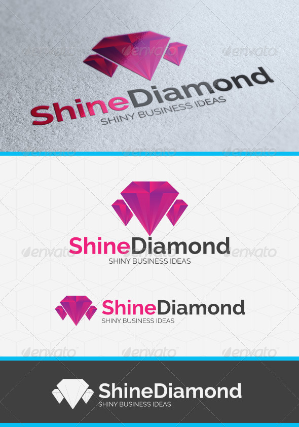 GraphicRiver Shining Diamond Logo Template 3978942