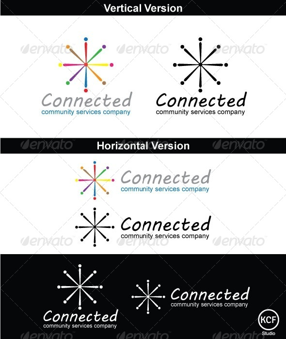 Connected Logo Design - Vector Abstract