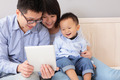 happy family using tablet pc - PhotoDune Item for Sale