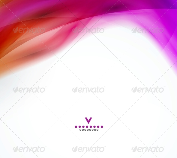 Abstract Wave Design Template