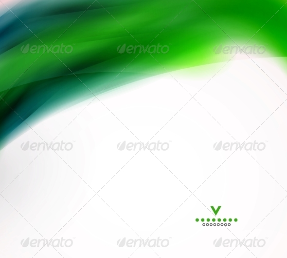 Abstract Wave Design Template - Backgrounds Decorative