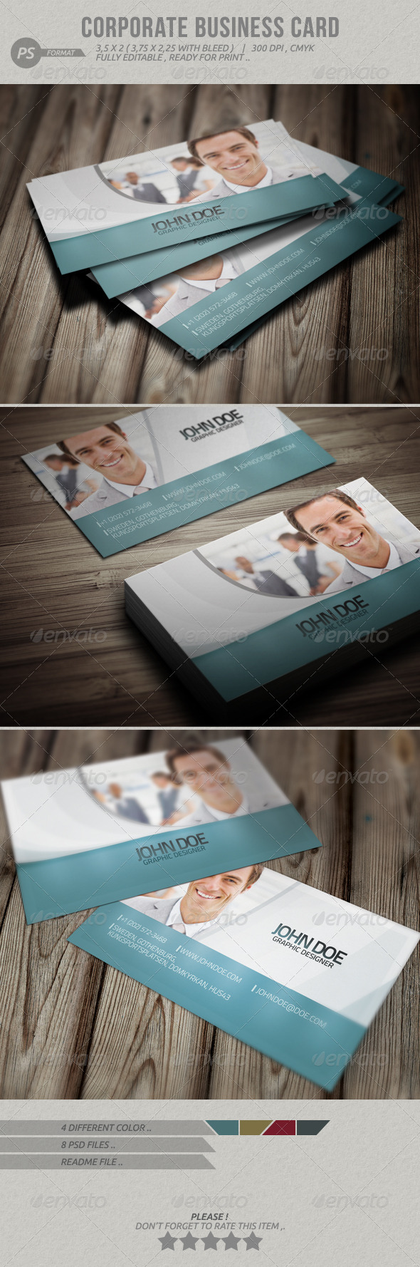 GraphicRiver Corporate Business Card 4066303