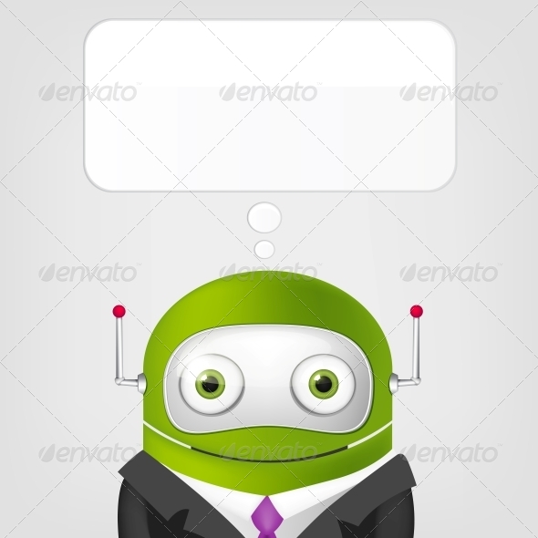 GraphicRiver Cute Robot 4066309