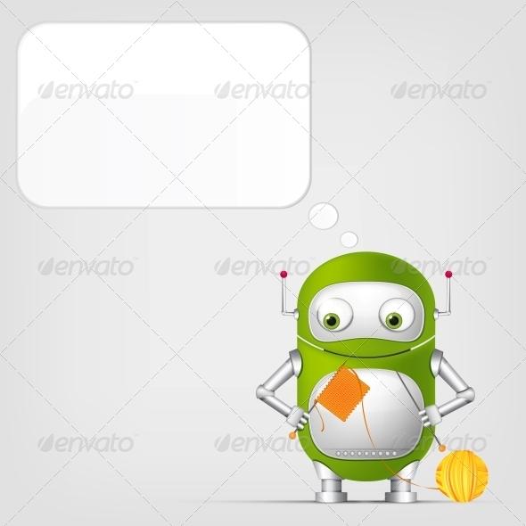 GraphicRiver Cute Robot 4066311