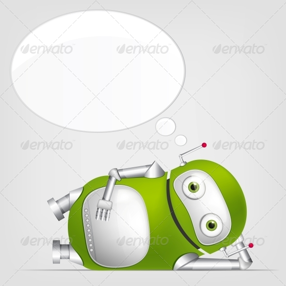 GraphicRiver Cute Robot 4066315