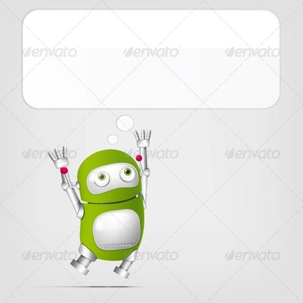 GraphicRiver Cute Robot 4066318