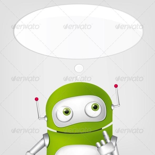 GraphicRiver Cute Robot 4066321