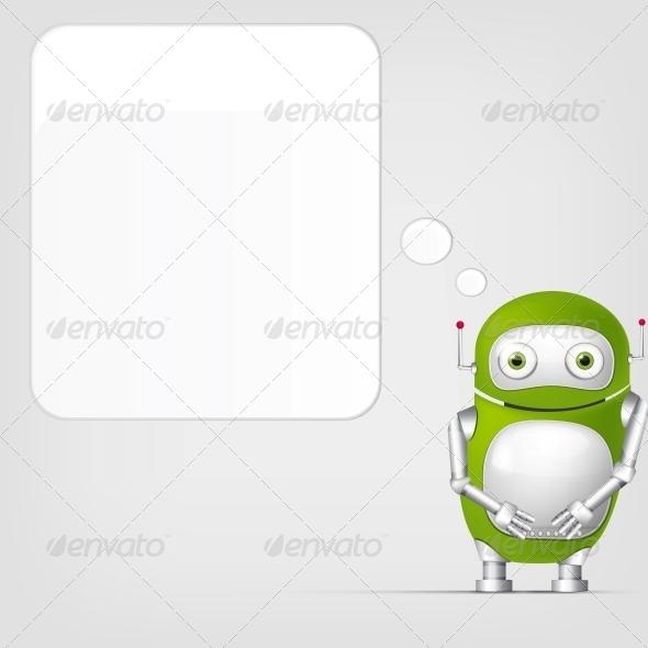 GraphicRiver Cute Robot 4066323