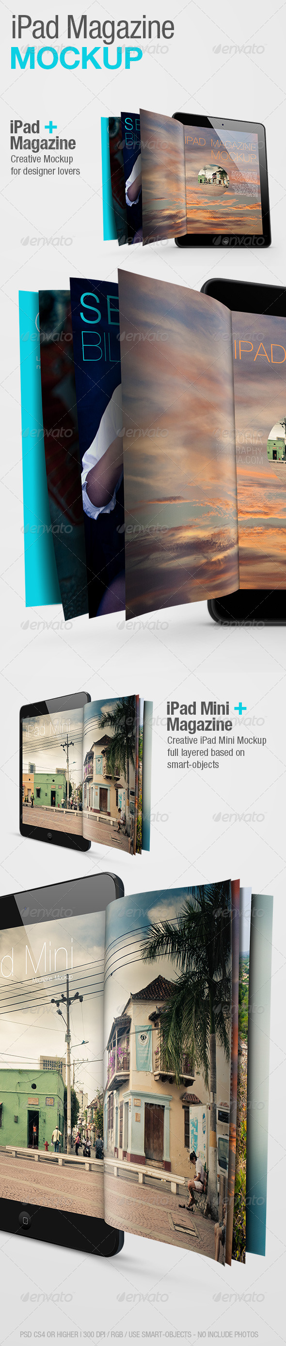 GraphicRiver iPad Magazine Mockup 4066329