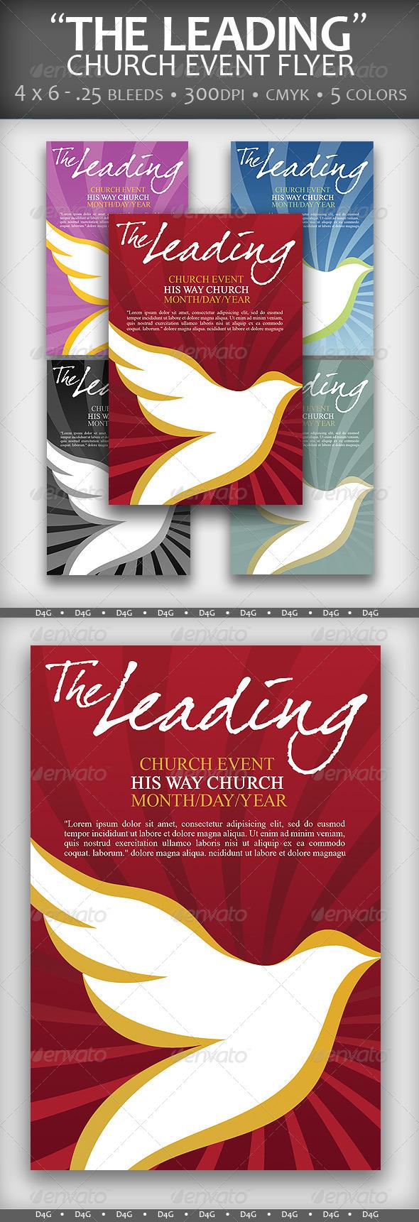 """The Leading"" Church Event Flyer - Church Flyers"