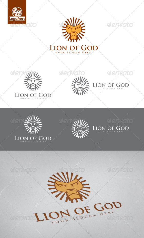 Lion of God Logo Template