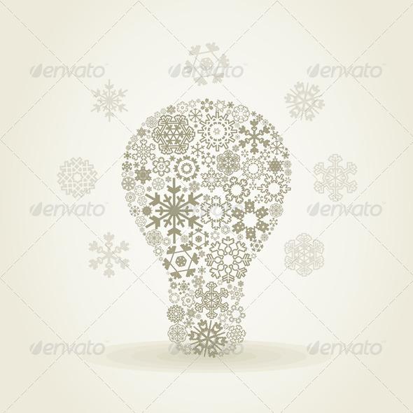 GraphicRiver Snowflake Bulb 4066856