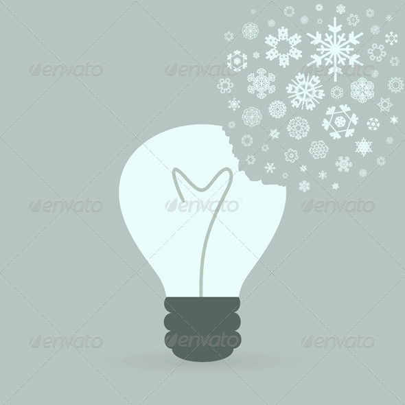 GraphicRiver Snowflake Bulb 2 4066857