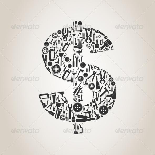 Tool Dollar - Miscellaneous Vectors