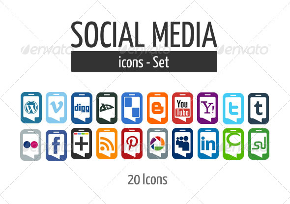 GraphicRiver Social Media Icon Set 4067190