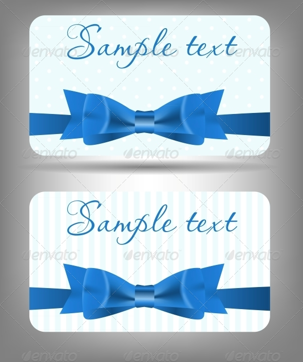 GraphicRiver Card with Bow and Ribbon 4067235