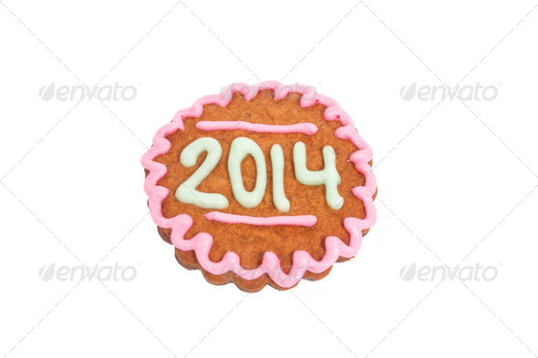 PhotoDune Homemade 2014 cookie isolated on white 4082270