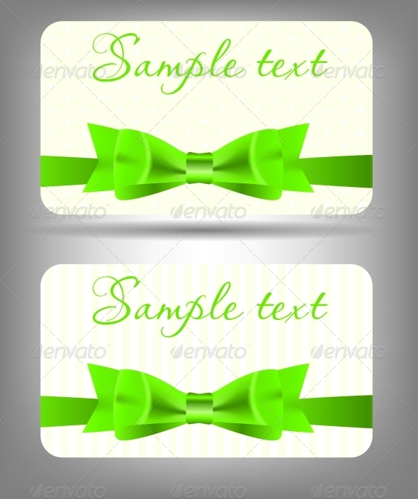 GraphicRiver Card with Bow and Ribbon 4067238