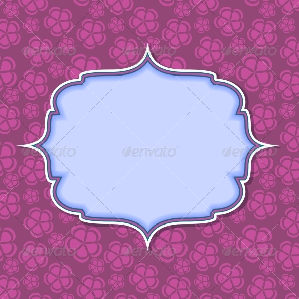 GraphicRiver Frame on Retro Vintage Seamless Background 4067256