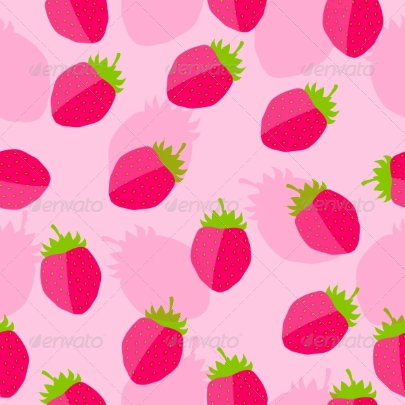 GraphicRiver Strawberry Background Vector Illustration 4067274