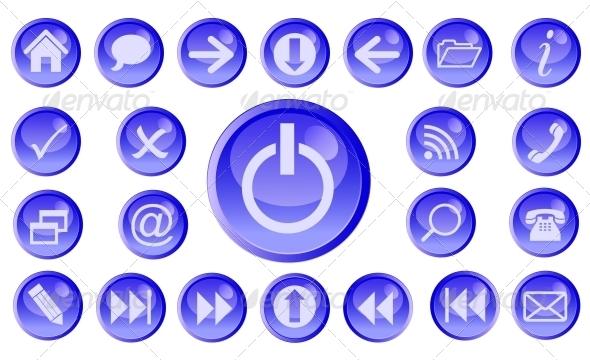 GraphicRiver Vector icon set for web 4067495