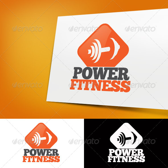 GraphicRiver Power Fitness Gym Logo Template 4067611