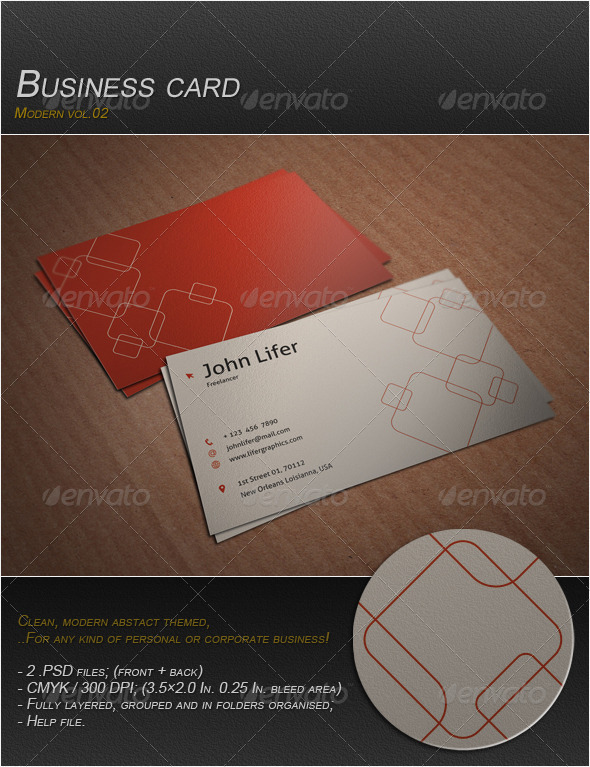 GraphicRiver Business Card Modern Vol.02 4067666