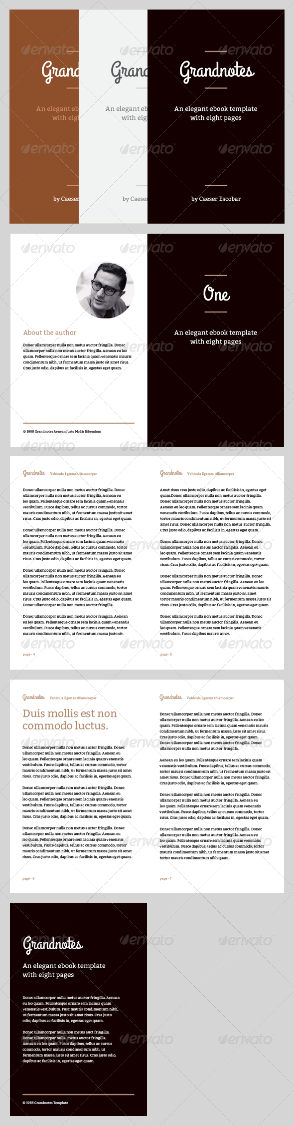 GraphicRiver Grandnotes eBook Template or Print Book 4067854