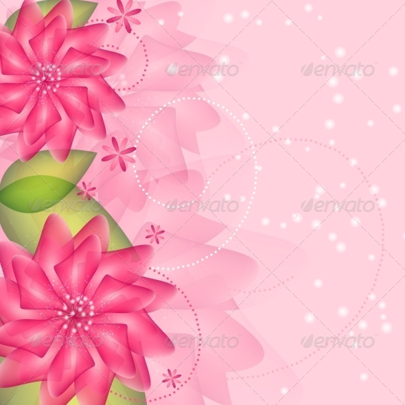 GraphicRiver Romantic Flower vector Background 4067966