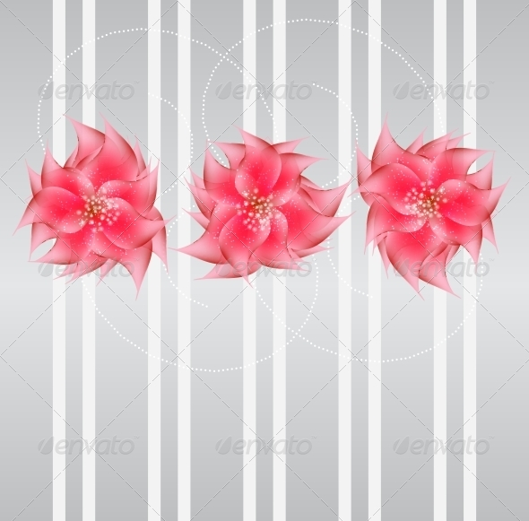 GraphicRiver Romantic Flower vector Background 4068003