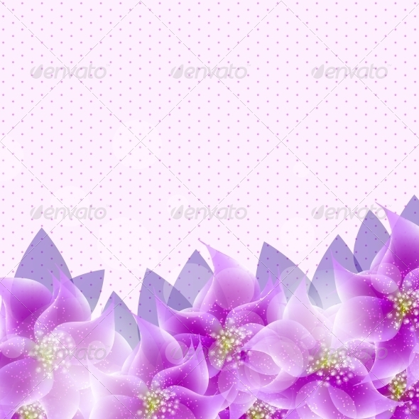 GraphicRiver Floral Background Vector Illustration 4068068