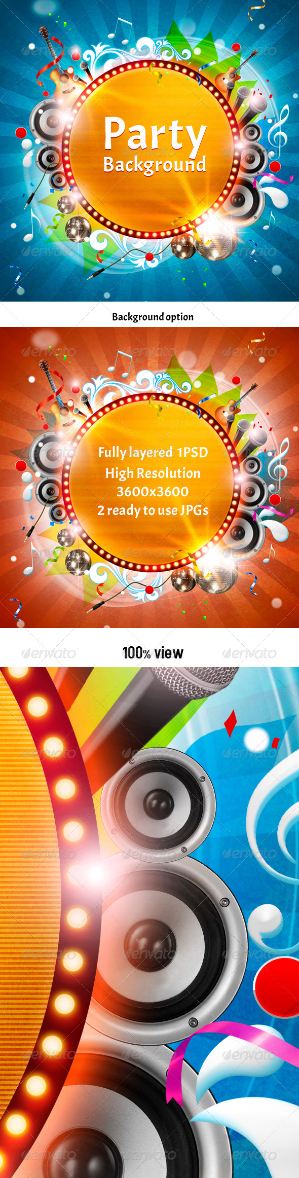 GraphicRiver Party Background 3957755