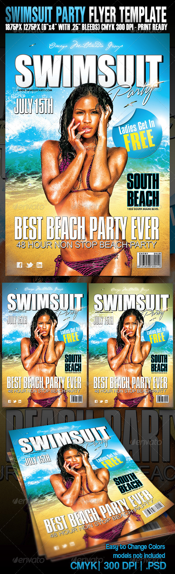 GraphicRiver Swimsuit Party 4068139