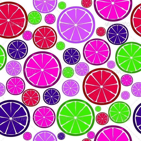 Fruit Design Seamless Pattern Vector Illustration