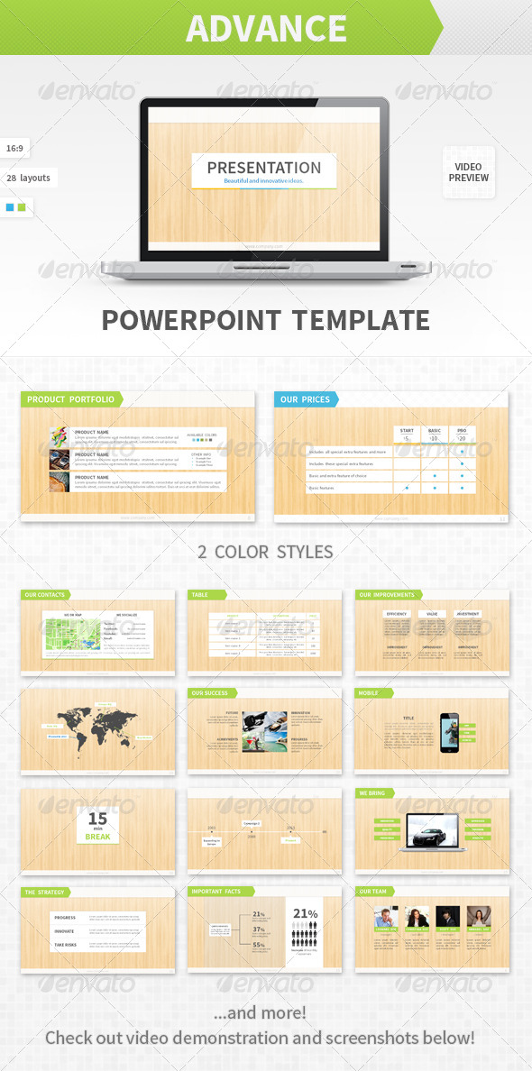 GraphicRiver Advance PowerPoint Template 4068210