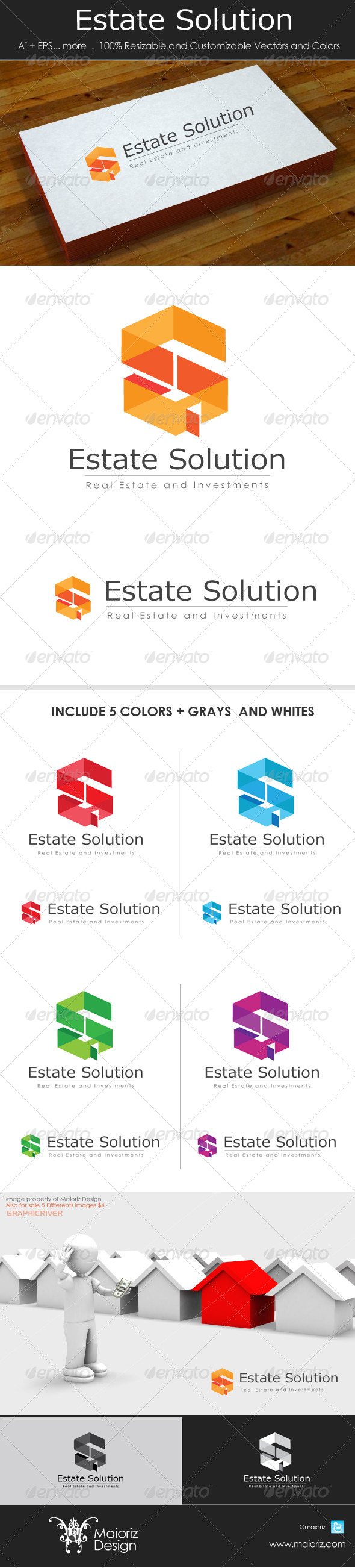 Estate Solution Logo - Letters Logo Templates