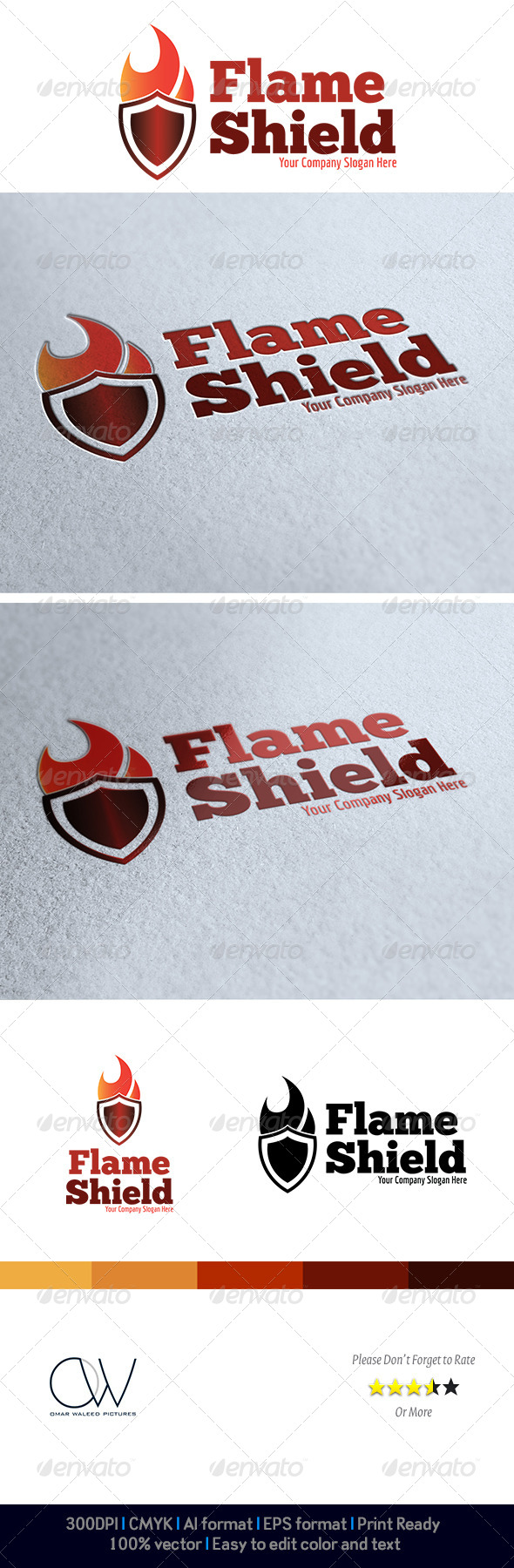 GraphicRiver Flame Shield Logo 4068592
