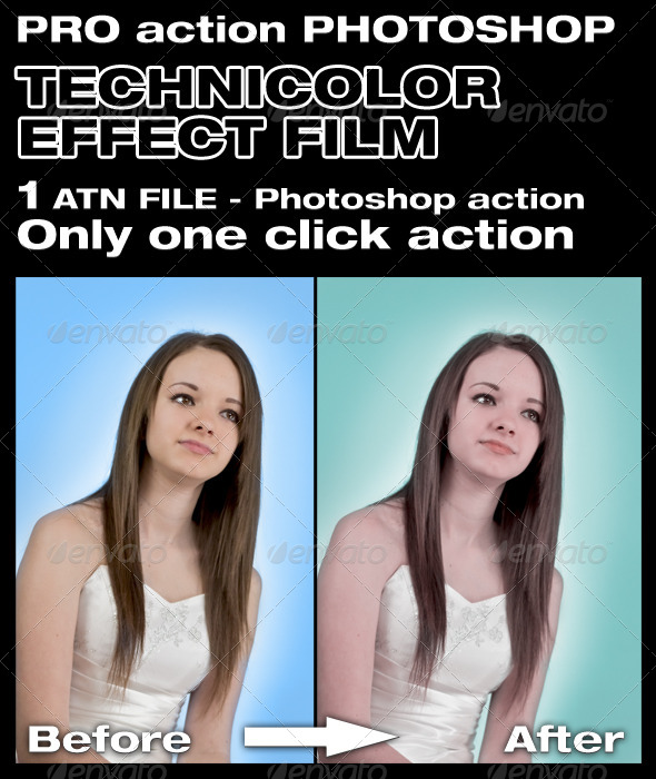 Technicolor Effect Action - Photo Effects Actions